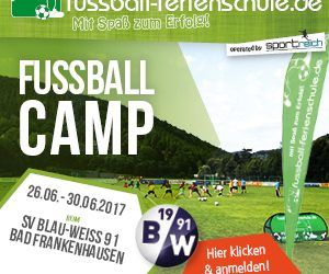 Fußball Feriencamp 26.06 – 30.06.2017 in Bad Frankenhausen