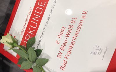 Zweiter Platz beim Landessportbund Thüringen – Medienpreis 2017