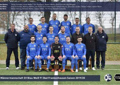 1. Mannschaft Saison 2019/20